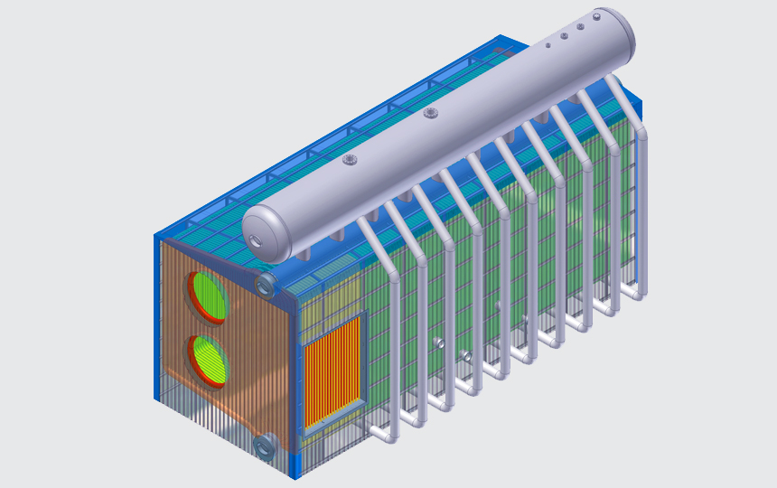 DISCOVERY OVERHEAD D-TYPE BOILER (3-D CAD Graphic Only)